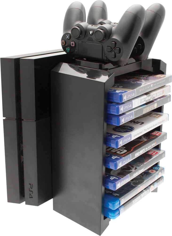 PS4 Games Storage Tower and Twin Charger